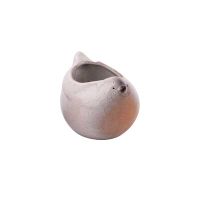 bird flowerpot cream lille