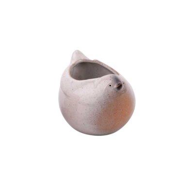 bird flowerpot cream lille
